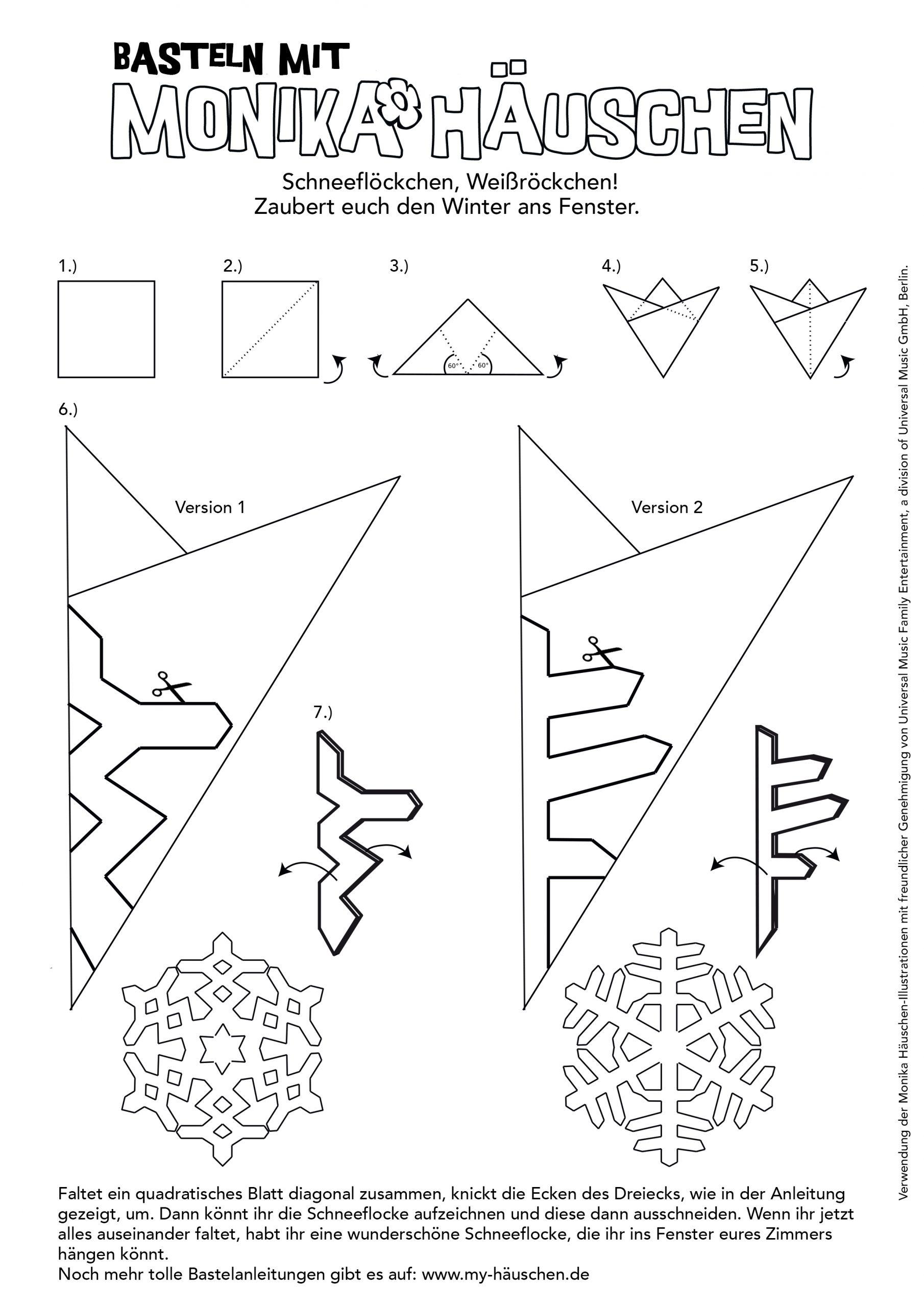 Bastelvorlage: Schneeflocken! | mit Schneeflocken Vorlagen Zum Ausschneiden