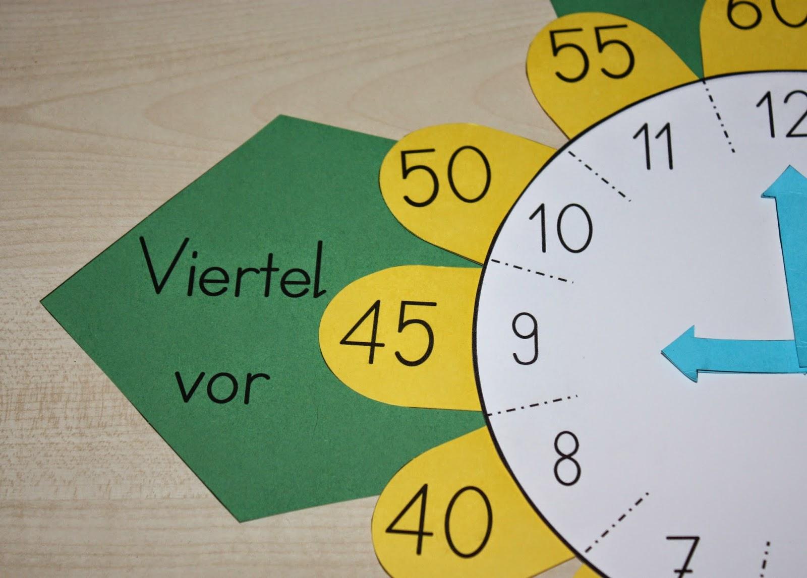Bastelvorlage Uhr 2.0 – Klassenkunst bei Uhr Bastelvorlage