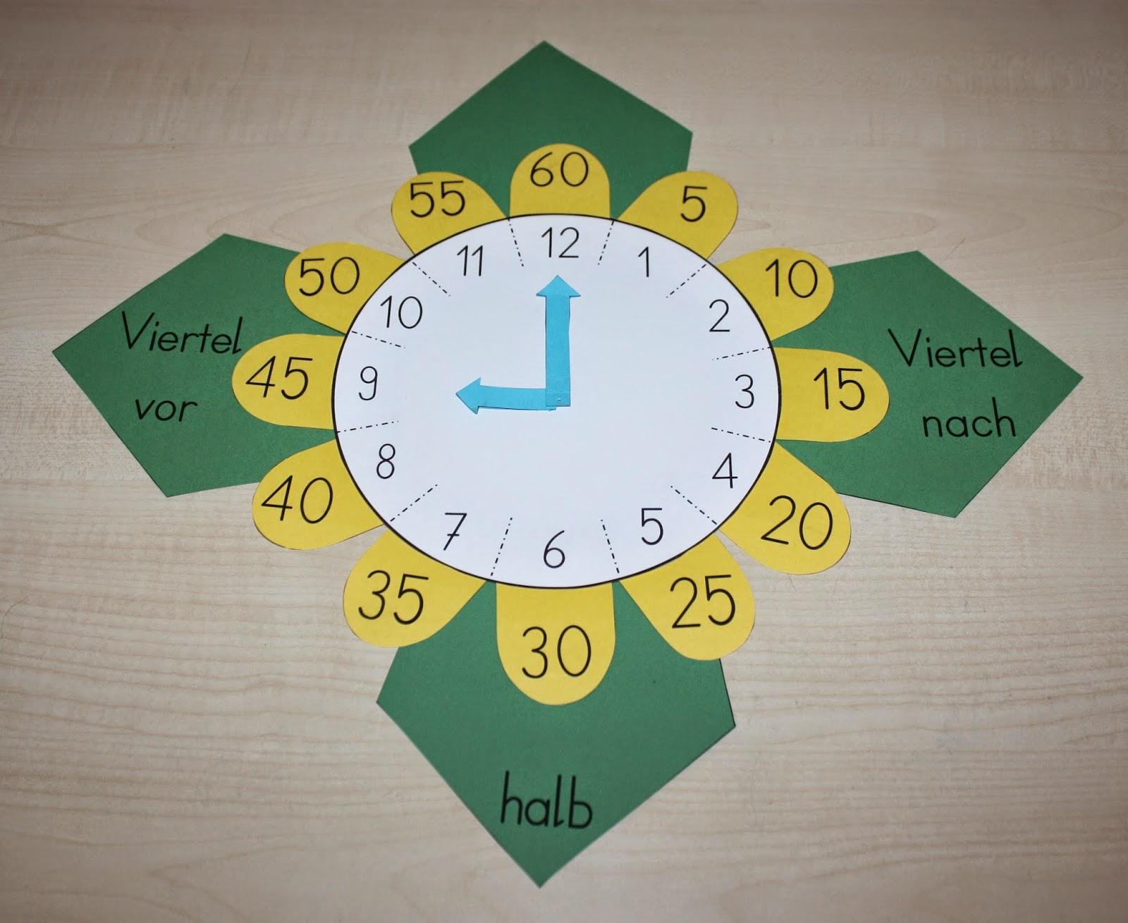Bastelvorlage Uhr 2.0 – Klassenkunst innen Uhr Basteln Grundschule