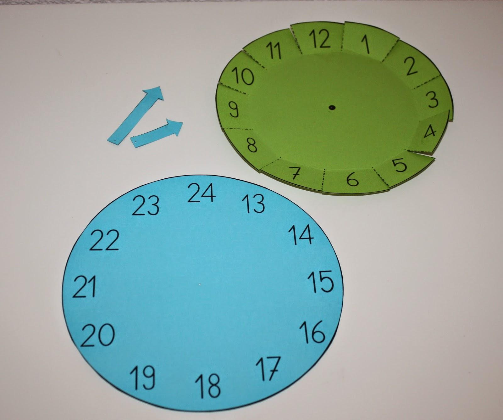 Bastelvorlage Uhr – Klassenkunst in Uhr Bastelvorlage