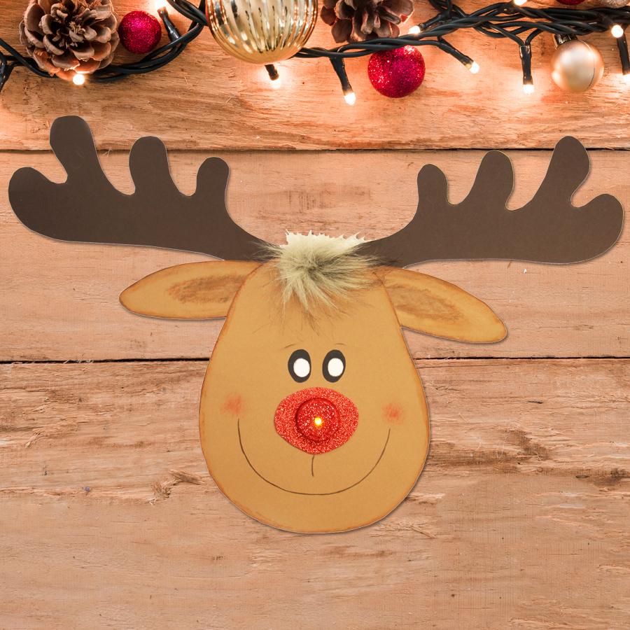 Bastelvorlagen Weihnachten Kostenlos | Rentier Basteln bei Weihnachten Basteln Vorlagen Kostenlos