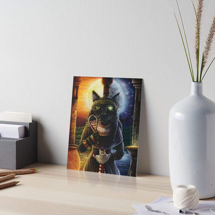 'bastet Ägyptische Katzengöttin' Galeriedruck Von Taraflyphotos bestimmt für Ägyptische Katzengöttin