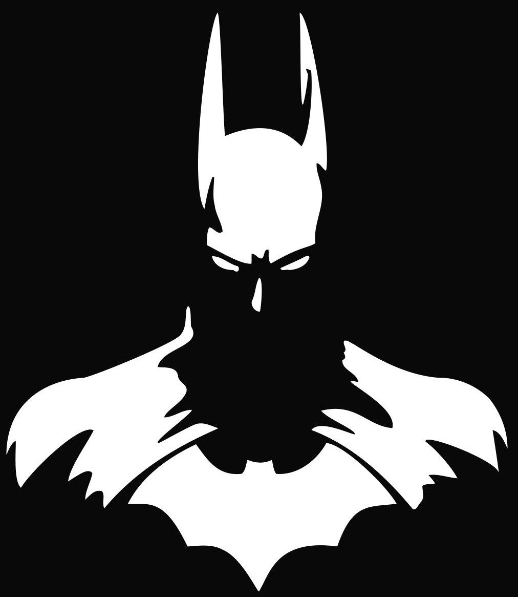 Batman Silhouette #batman #blackandwhite #artwork Http://www in Graffiti Schablonen Zum Ausdrucken
