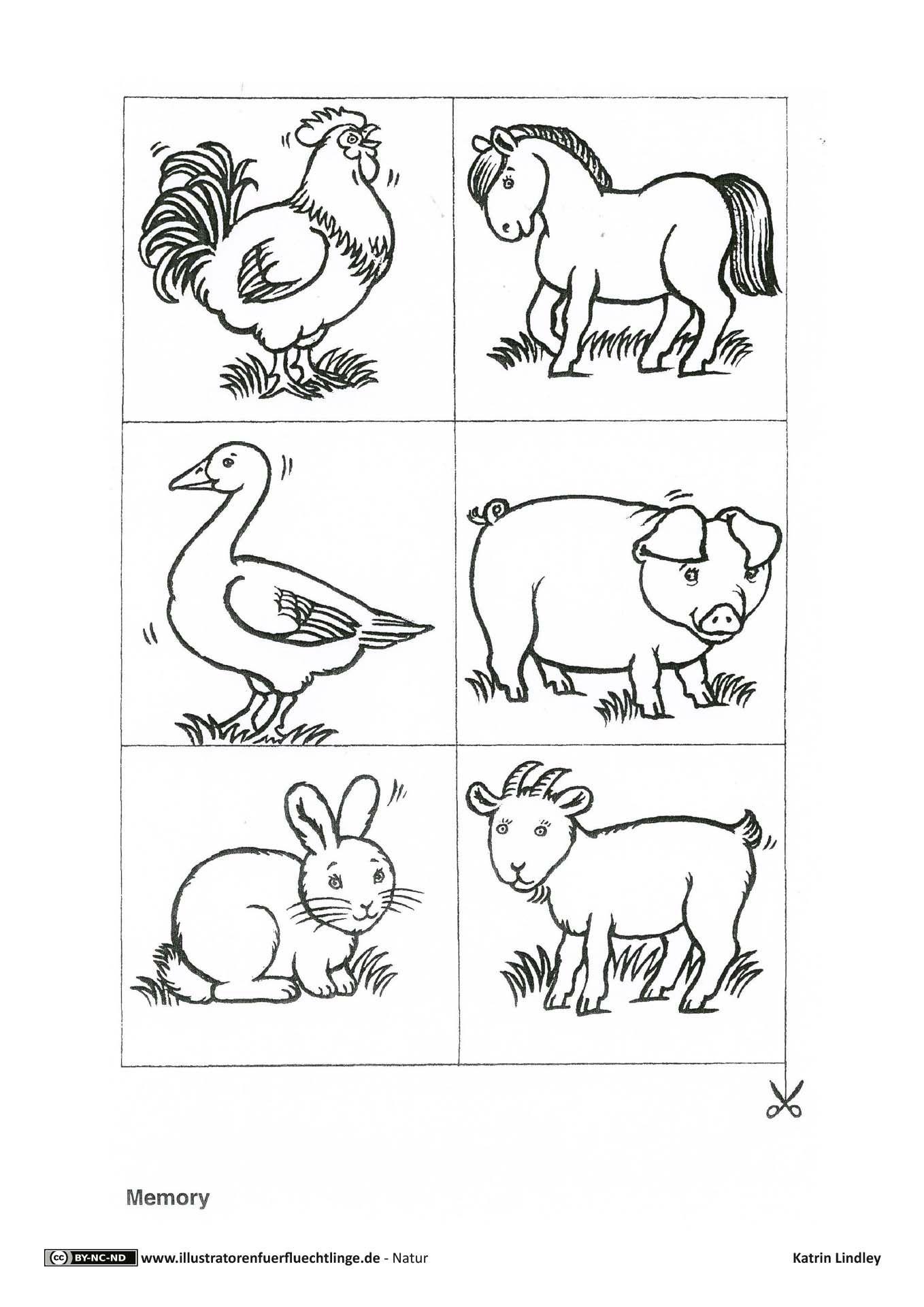 Bauernhof Memo Spiel Tiere (Mit Bildern) | Bauernhof Tiere bestimmt für Bauernhof Ausmalbilder