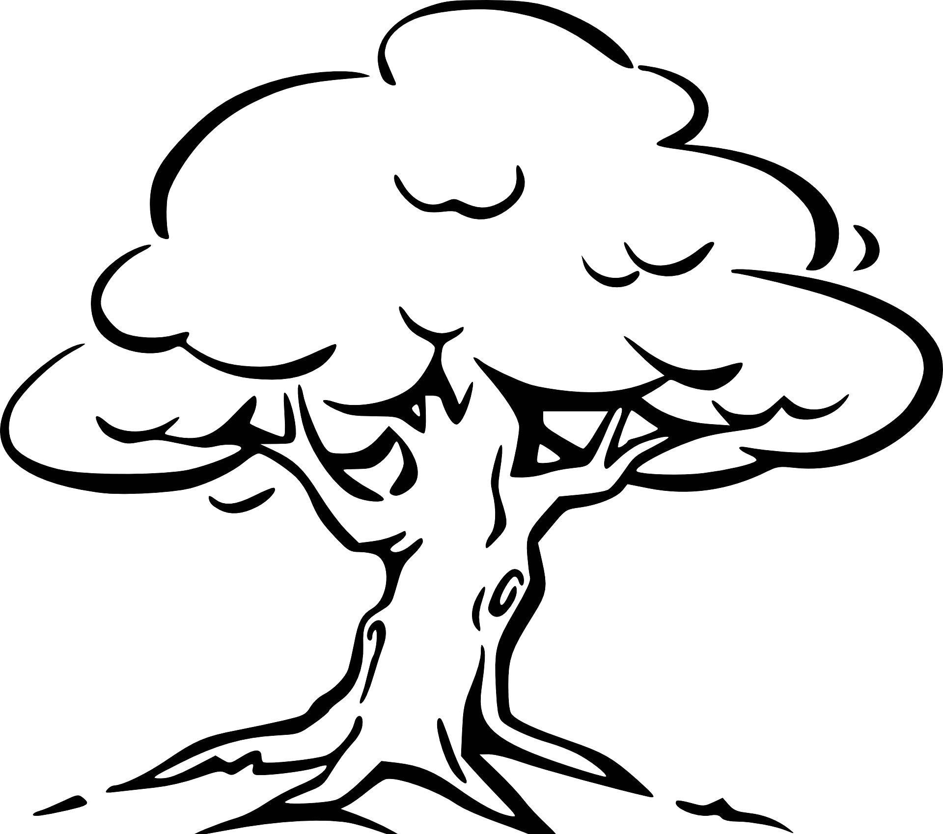 Baum Mit Wurzeln Ausmalbild In 2020 (Mit Bildern für Malvorlagen Baum