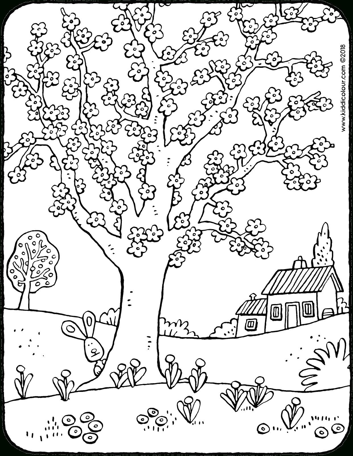 Baum Voller Blüten - Kiddimalseite über Malvorlagen Baum
