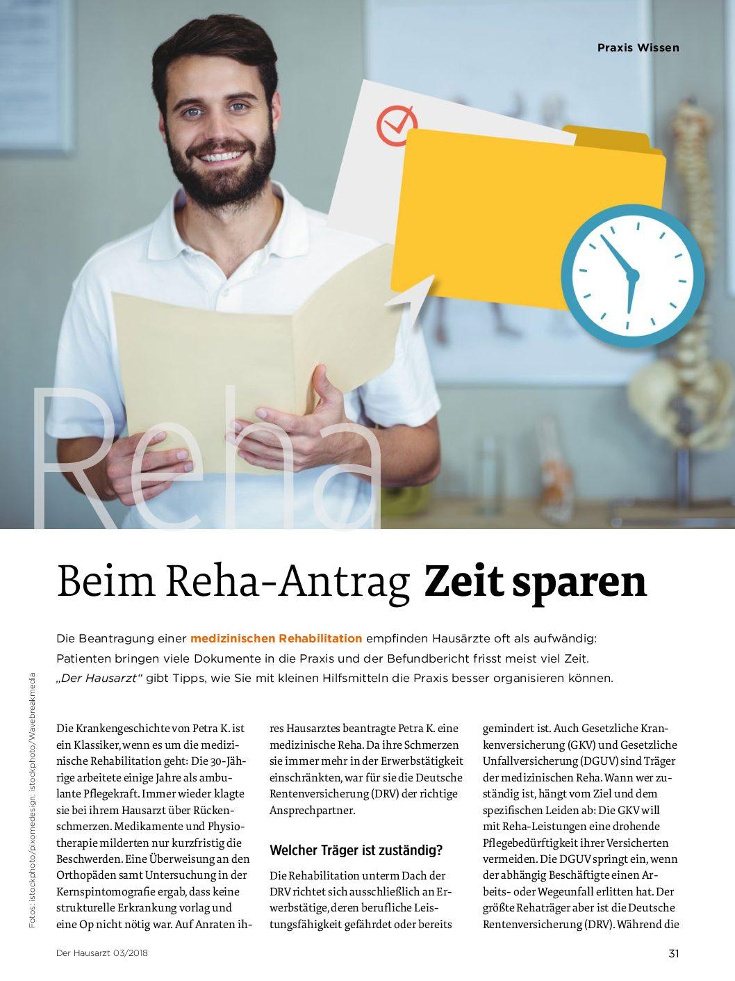 Beim Reha-Antrag Zeit Sparen – Der Hausarzt bei Wie Lange Dauert Ein Kurantrag Bis Zur Bewilligung