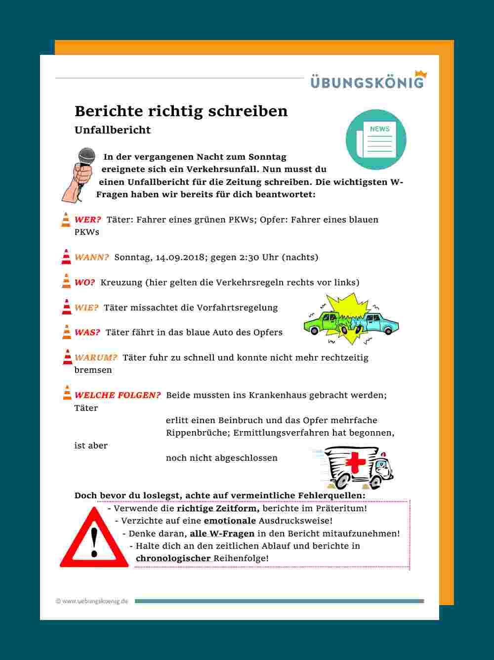 Bericht Schreiben Grundschule