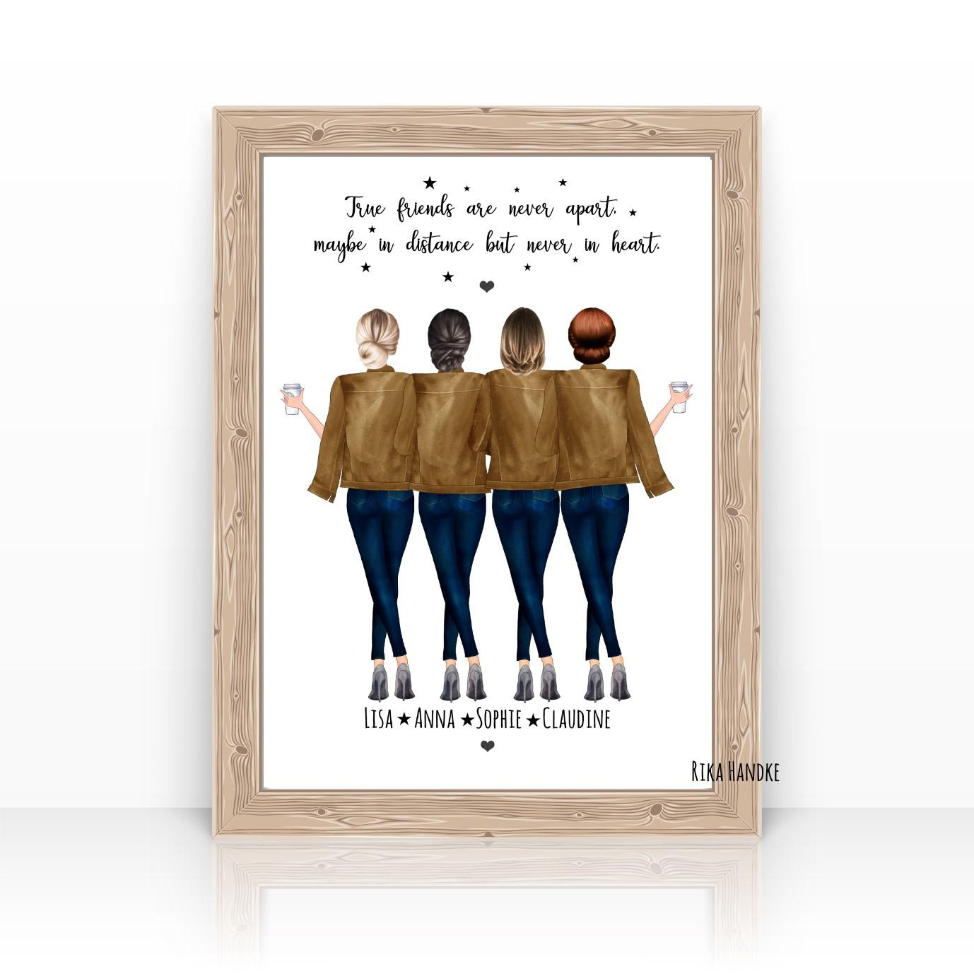 Beste Freundin/freundinnen Geschenk Geburtstag-Pdf Datei Zum Selberdrucken verwandt mit Geschenk Für Beste Freundin 15