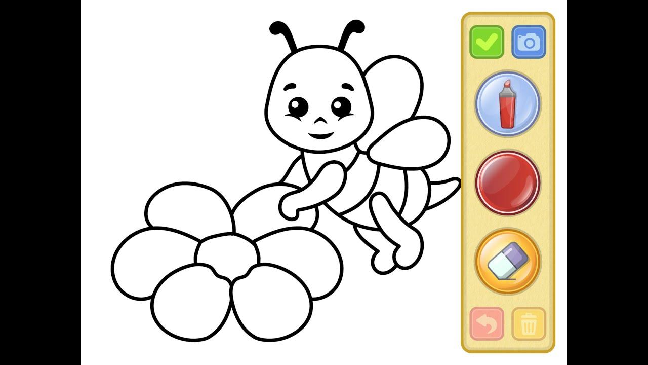 Biene - Malbuch Malen Ausmalen Für Kinder | Bee - Coloring Book Drawing  Coloring For Children bestimmt für Biene Zum Ausmalen