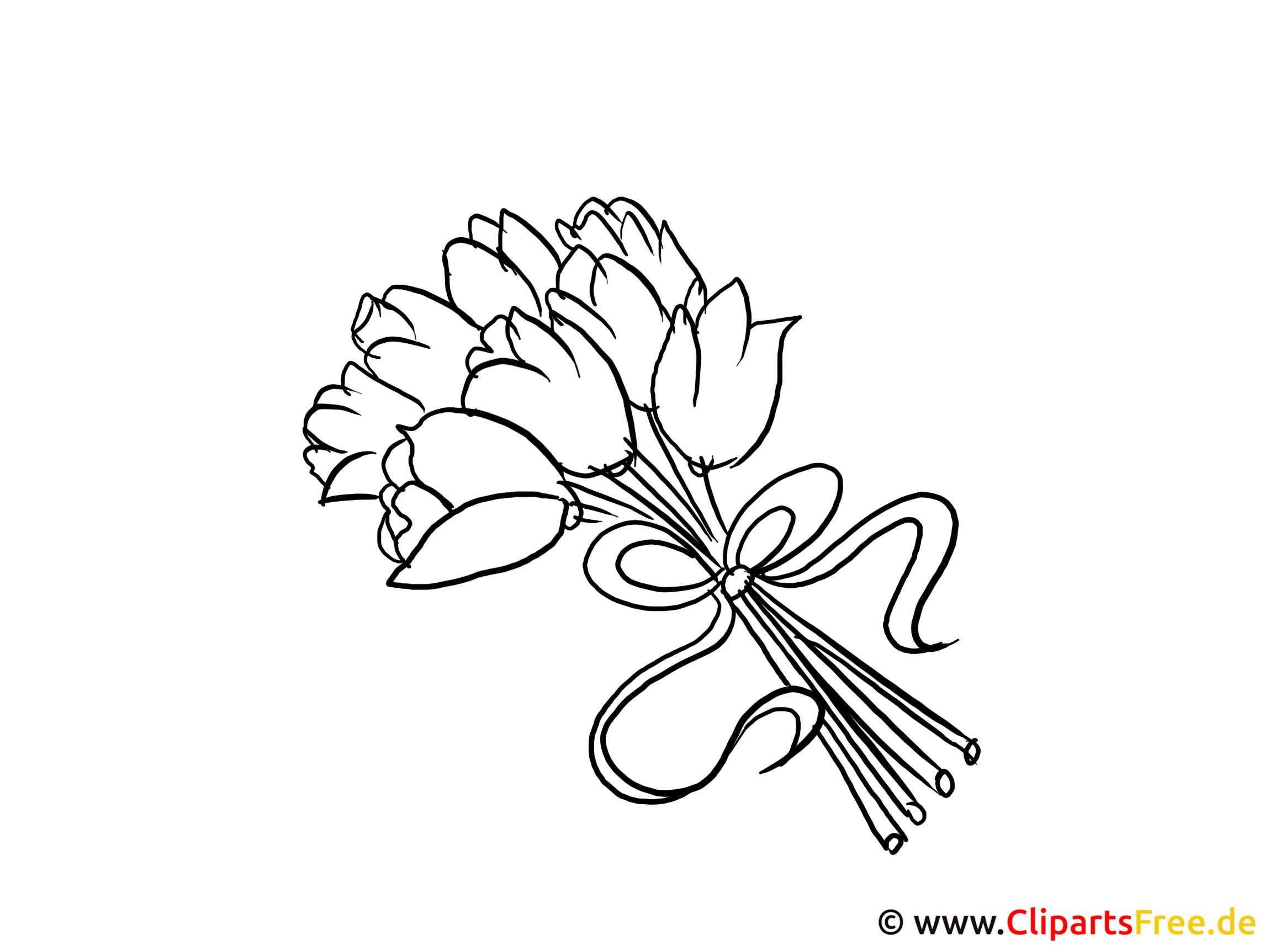 Bild Zum Ausmalen Blumenstrauss ganzes Blumenstrauß Ausmalbilder