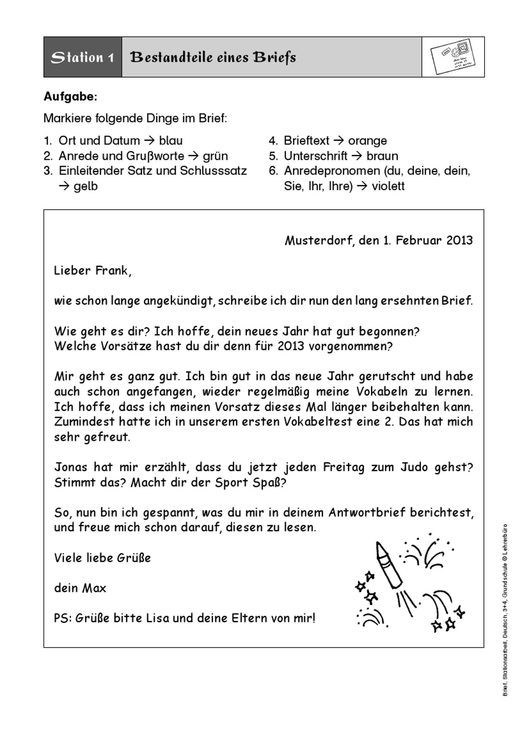 Bildergebnis Für Brief Schreiben 3. Klasse | Briefe über Aufsatz Schreiben 3 Klasse