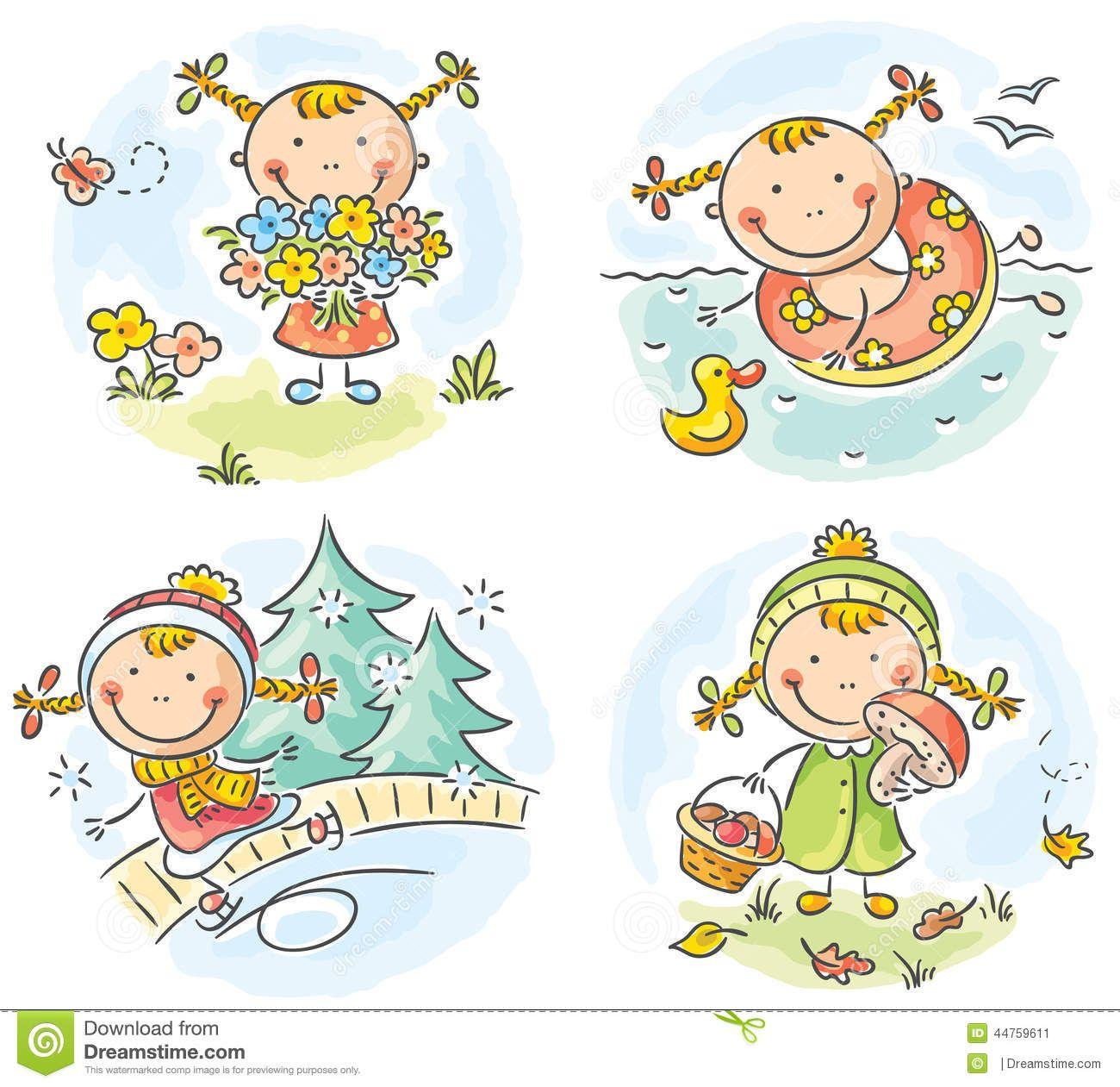 Bildergebnis Für Jahreszeiten Kinder Clipart (Mit Bildern mit Jahreszeiten Bilder Für Kindergarten