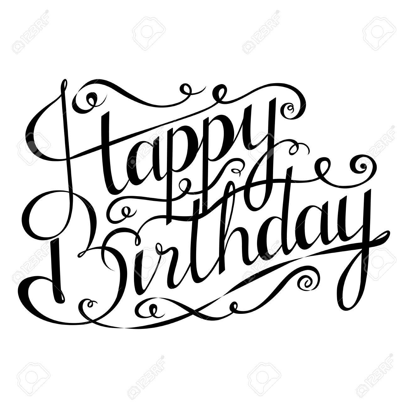Bildergebnis Für Kalligraphie Happy Birthday (Mit Bildern innen Happy Birthday Schriftzug Zum Ausmalen