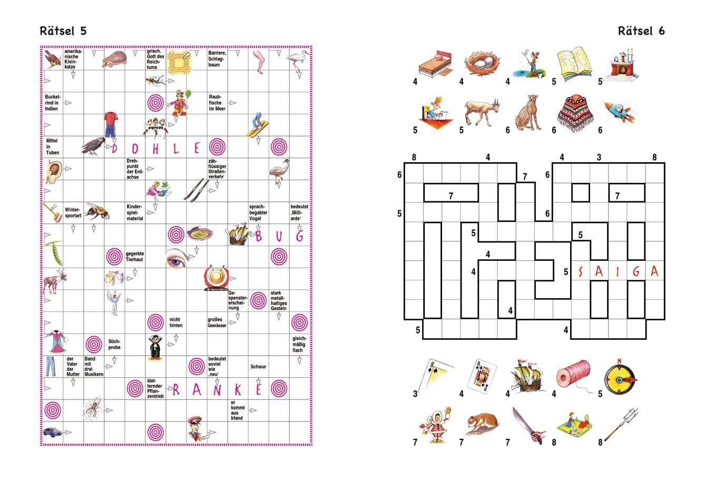 Bildergebnis Für Kreuzworträtsel Kinder Ab 12 Jahre | Rätsel verwandt mit Denk Rätsel
