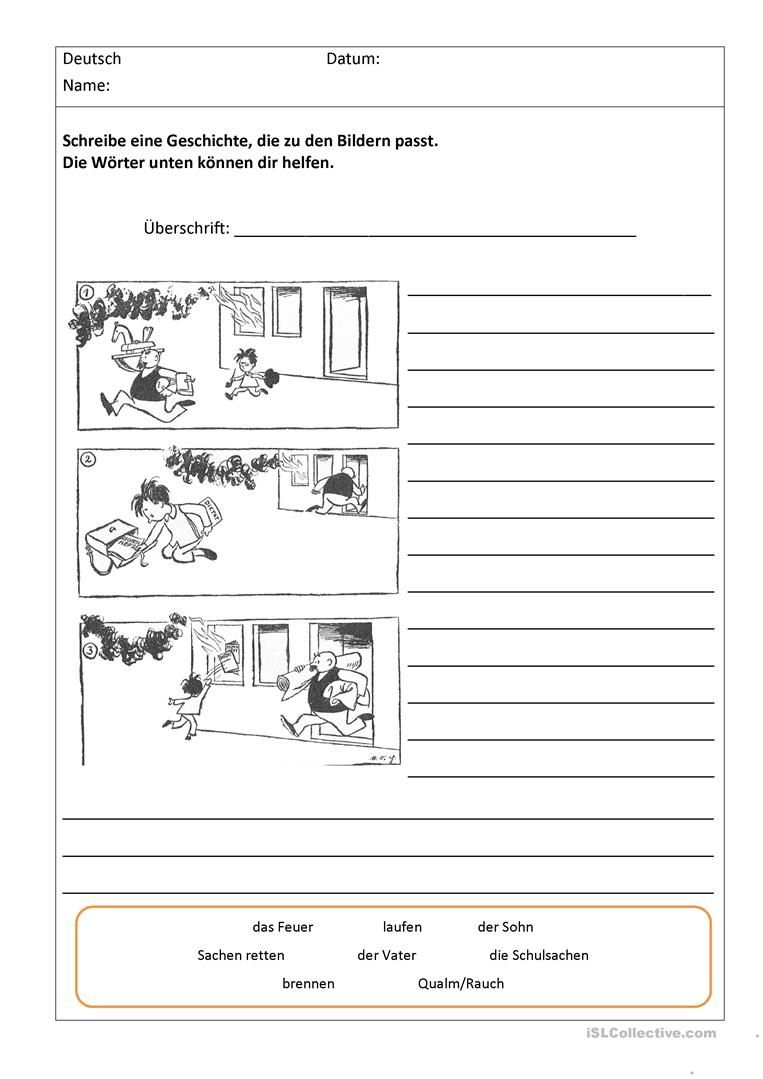 Bildergeschichten Mit Worthilfen (Mit Bildern bestimmt für Aufsatz Bildergeschichte 3 Klasse Kostenlos