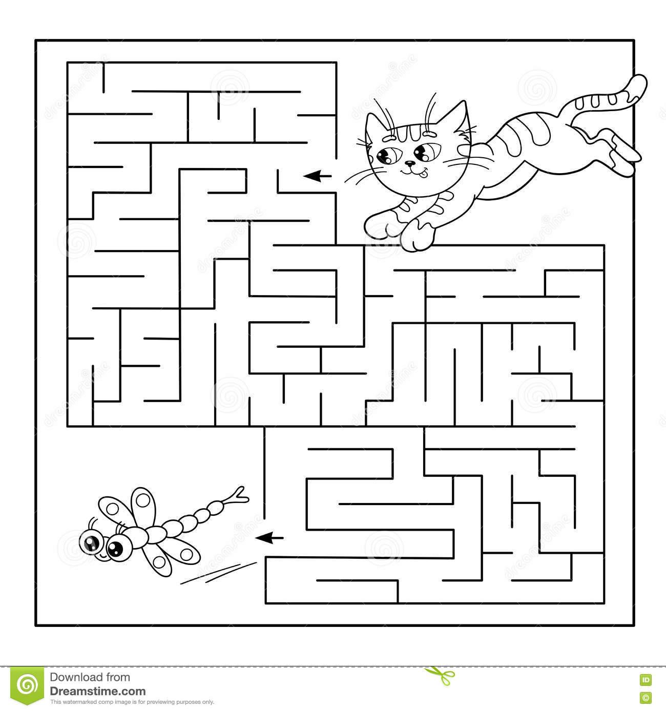 Bildungs-Labyrinth Oder Labyrinth-Spiel Für Vorschulkinder bei Labyrinth Spiele Kostenlos