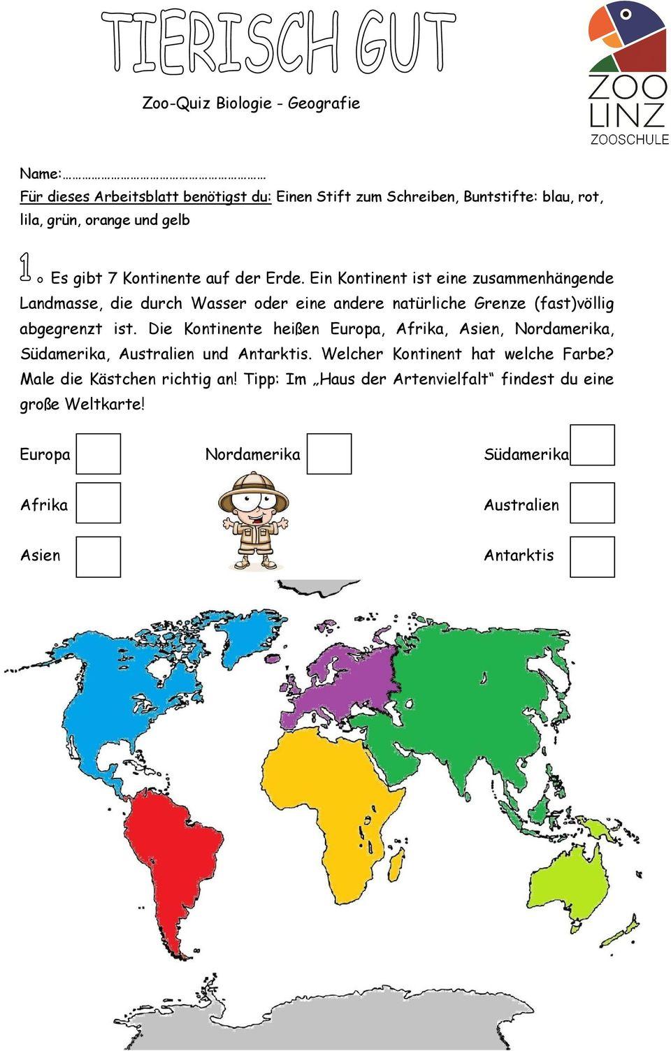 Biologie - Geografie - Pdf Free Download innen Kontinente Grundschule