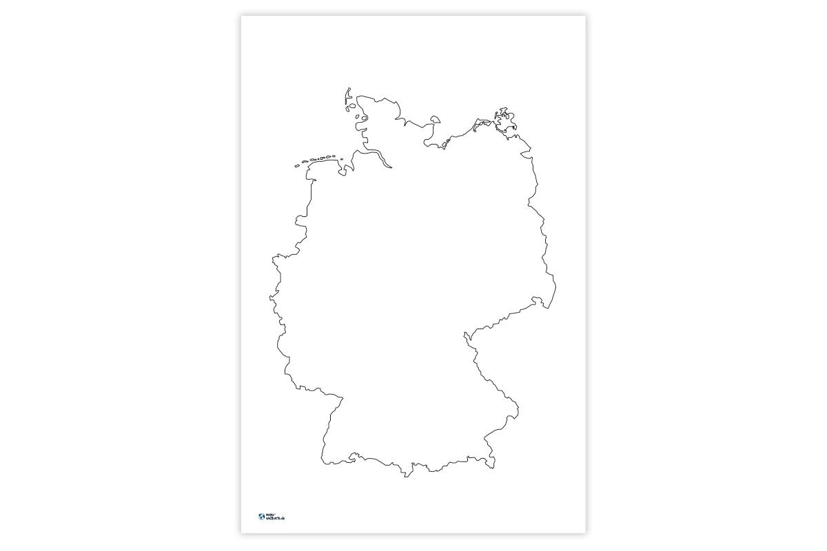 Blanko Deutschlandkarte   Bkg. 2020-02-27 verwandt mit Deutschlandkarte Bundesländer Blanko