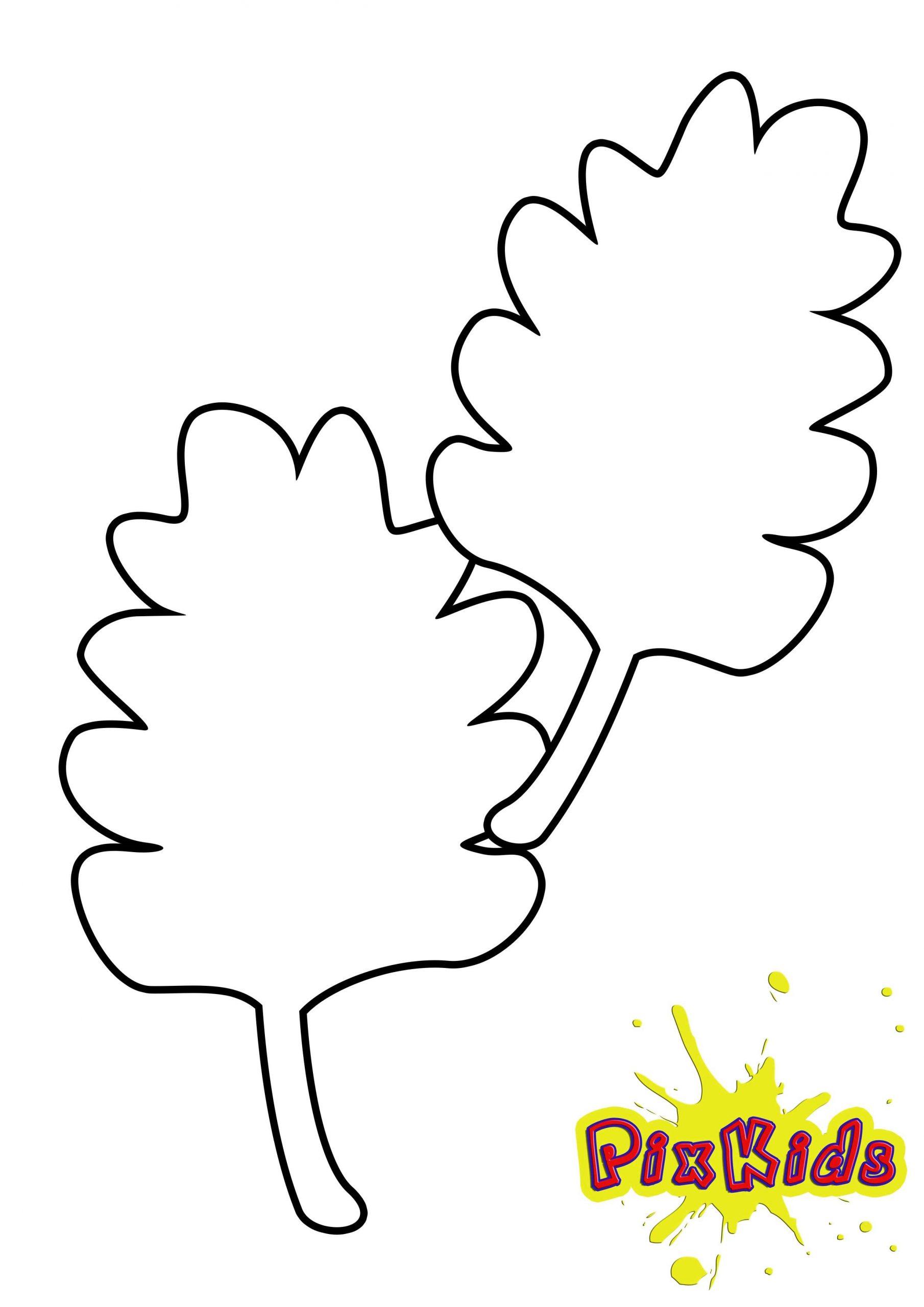 Blätter - Ausmalvorlagen Herbst in Malvorlagen Herbst Blätter Ausdrucken