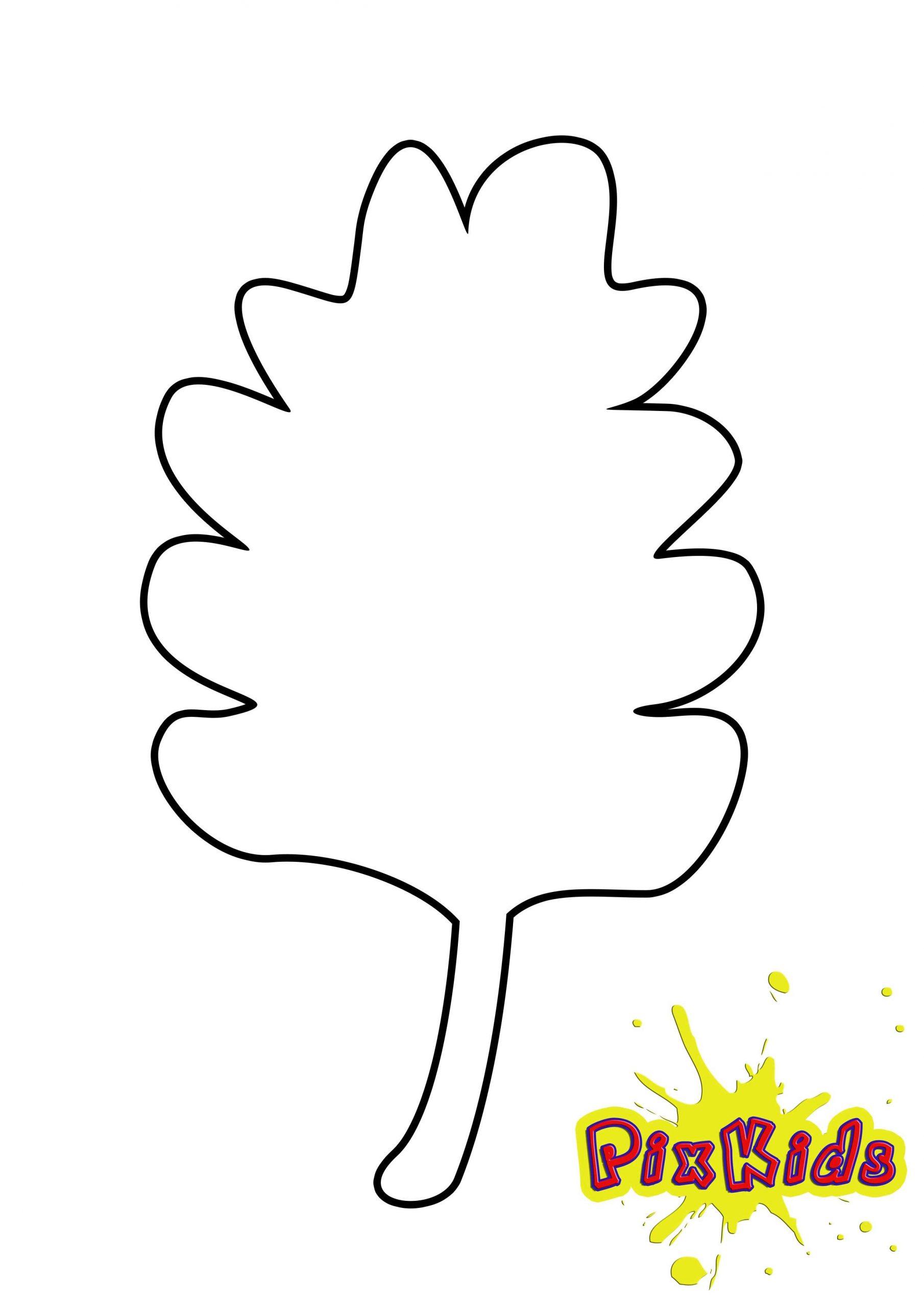 Blätter - Ausmalvorlagen Herbst mit Ausmalbilder Blätter