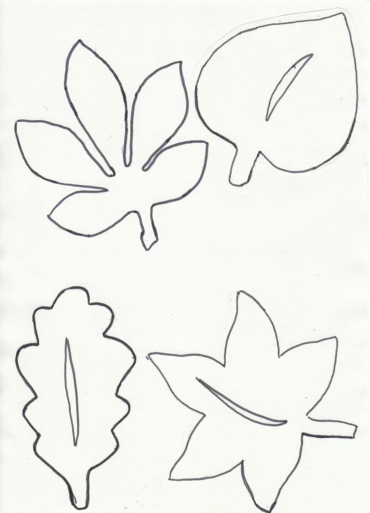 Blätter Schablonen Drucken. Herbstinspirationen Bl Tter Zum für Schablonen Zum Ausdrucken Kostenlos