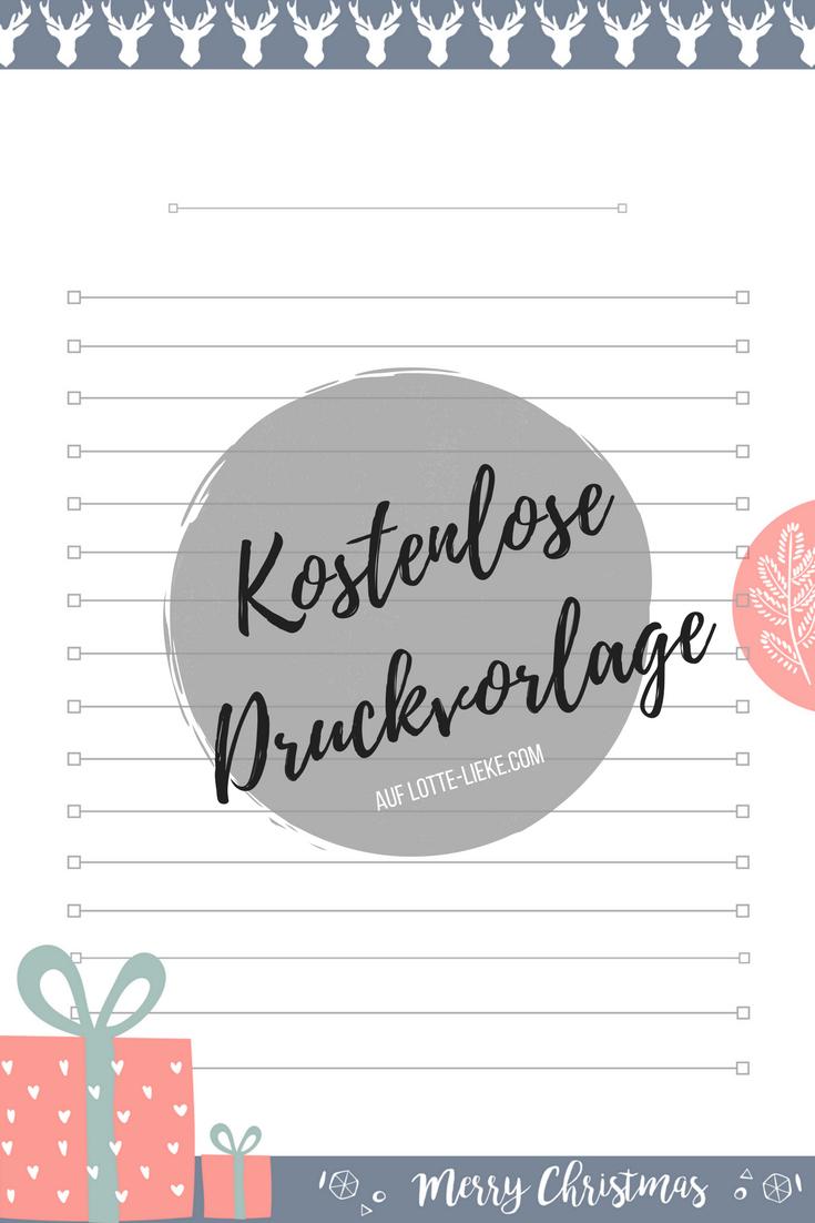 Blog Adventskalender: Der Vierte Dezember   Lotte & Lieke bestimmt für Briefpapier Drucken Kostenlos