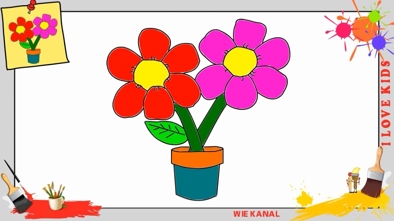 Blume Zeichnen 2 Schritt Für Schritt Für Anfänger & Kinder - Zeichnen Lernen über Blumen Zeichnen Lernen
