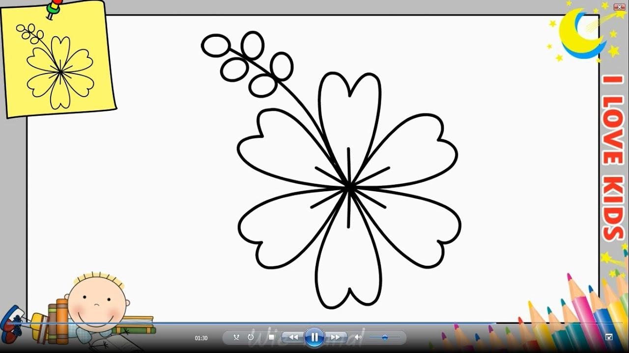 Blume Zeichnen Lernen Einfach Schritt Für Schritt Für Anfänger & Kinder 11 bei Blumen Zeichnen Lernen