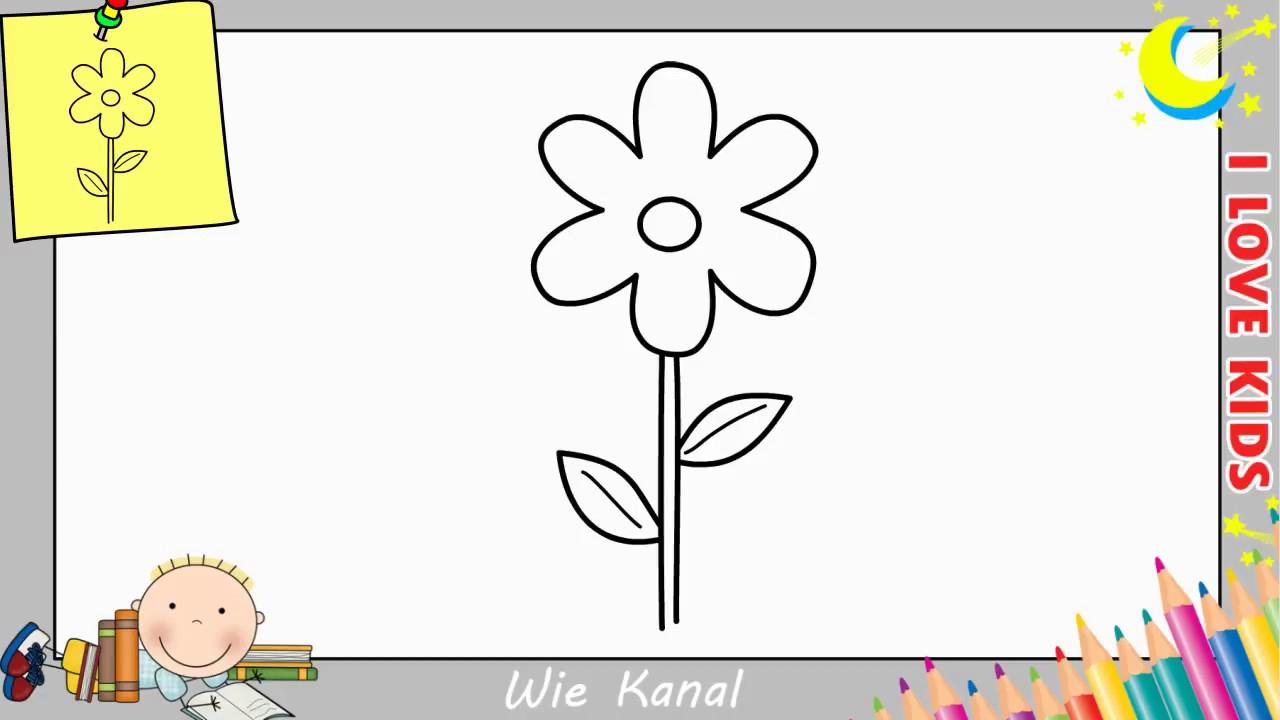 Blume Zeichnen Lernen Einfach Schritt Für Schritt Für Anfänger & Kinder 13 mit Blumen Zeichnen Lernen