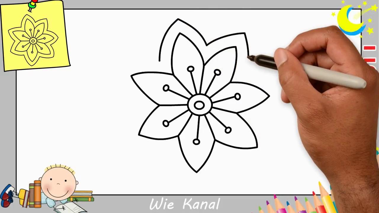 Blume Zeichnen Lernen Einfach Schritt Für Schritt Für Anfänger & Kinder 15 ganzes Blumen Zeichnen Lernen