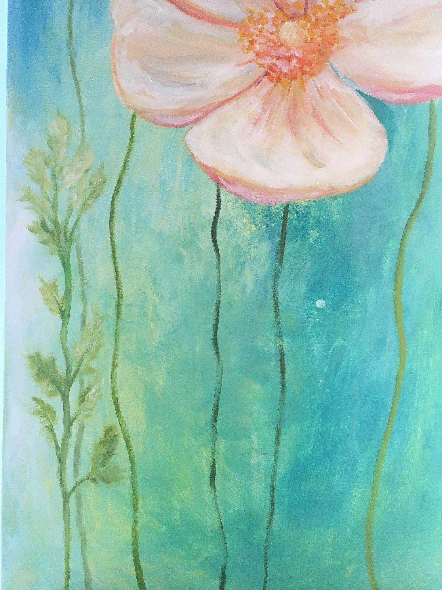 Blumen Malen Mit Acrylfarben - In 8 Einfachen Schritten (Mit für Acrylbilder Malen Vorlagen