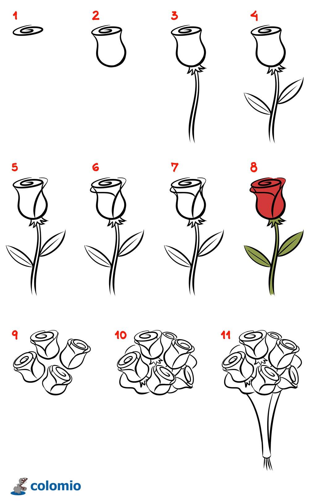 Blumen Malvorlage Kostenlos » Ausmalbilder Blumen verwandt mit Rosen Zeichnen Anleitung