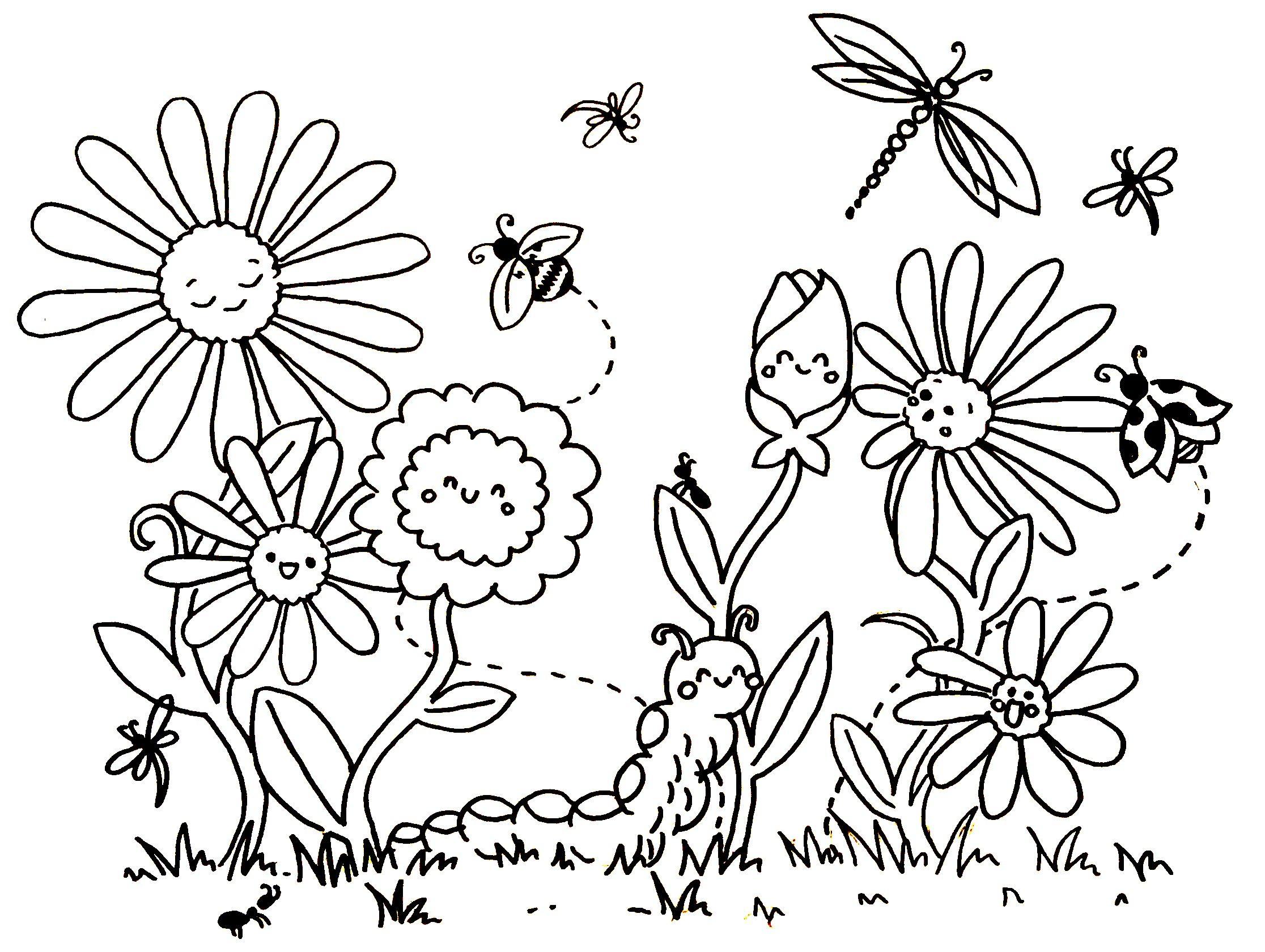 Blumen Malvorlage (Mit Bildern) | Blumen Ausmalen ganzes Ausmalbilder Frühling Kostenlos