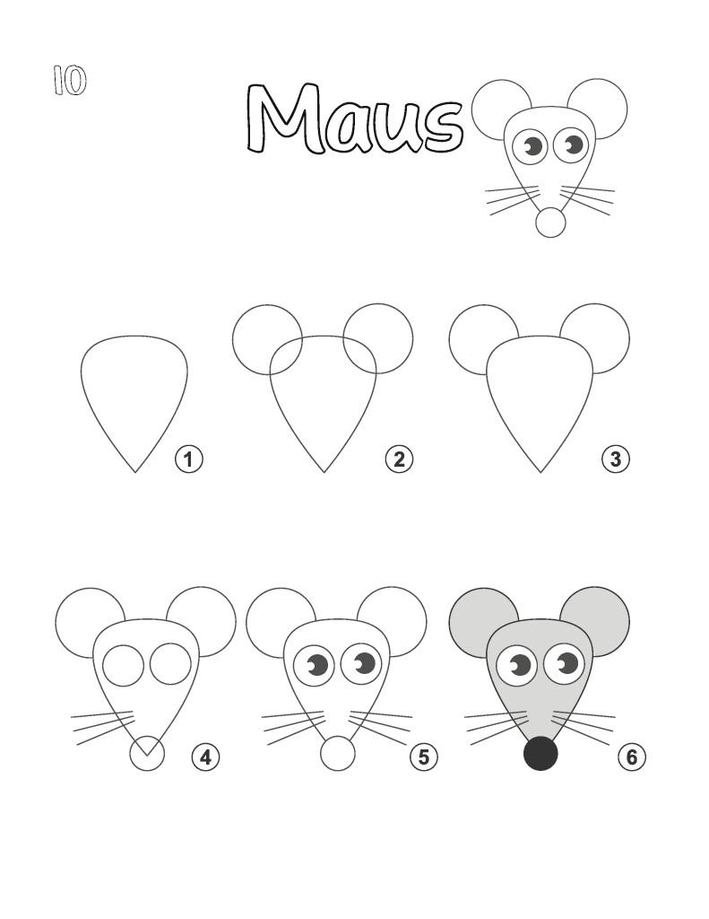 Bod-Leseprobe: Tiere Zeichnen Lernen - Das Kreative Malbuch für Tiere Einfach Zeichnen