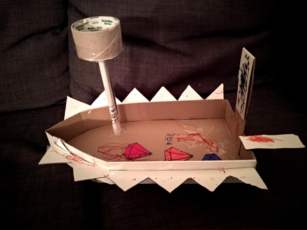 Boot Aus Karton – Basteln Nach Kinderzeichnungen mit Boot Bauen Mit Kindern