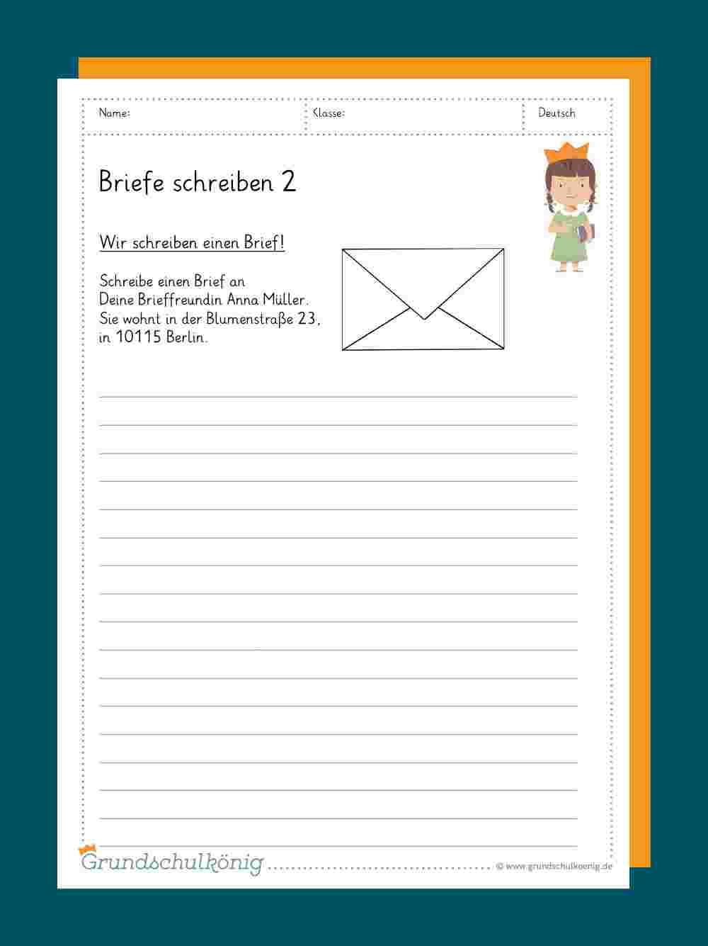 Briefe Schreiben in Texte Verfassen Grundschule 4 Klasse