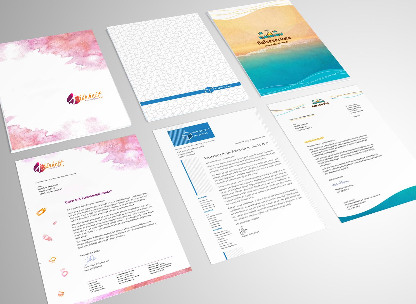 Briefpapier-Vorlagen Zum Download: Moderne Designs Auf in Vorlagen Briefpapier