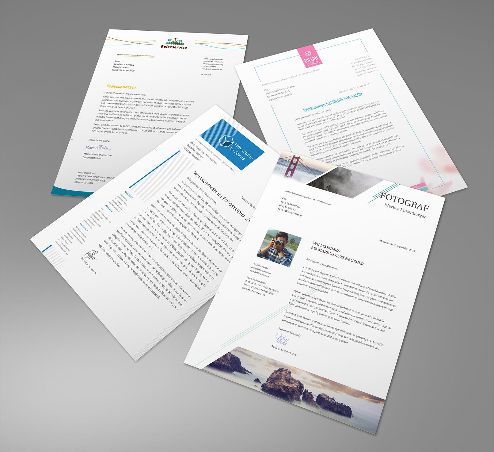 Briefpapier-Vorlagen Zum Download: Moderne Designs Auf innen Vorlagen Briefpapier