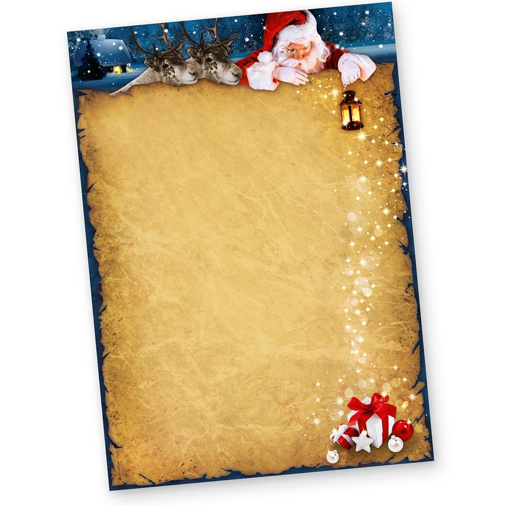 Briefpapier Weihnachten Günstig Nordpol Express 50 Blatt 90G für Weihnachten Briefpapier