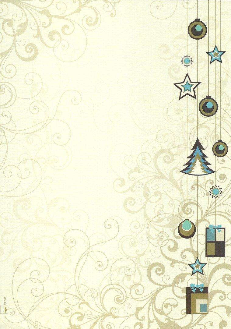 Briefpapier Weihnachten In Grün Sigel in Weihnachten Briefpapier