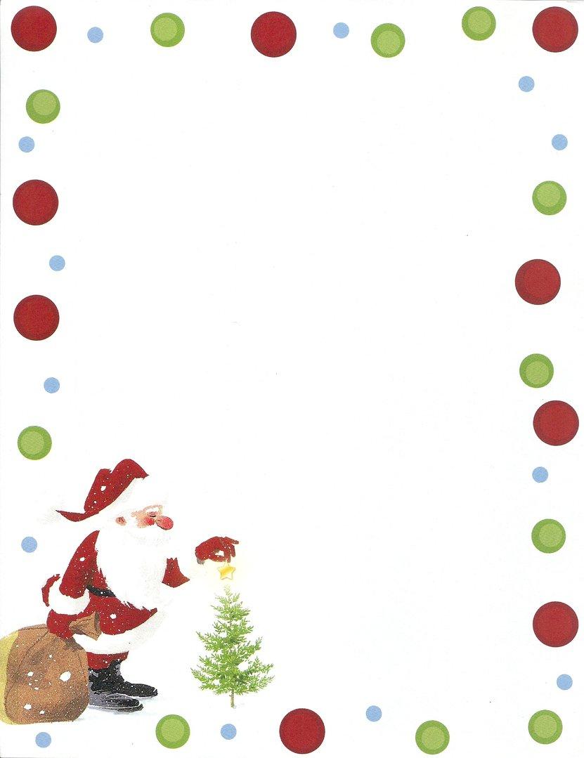 Briefpapier Weihnachtsmann Idea Art für Weihnachten Briefpapier