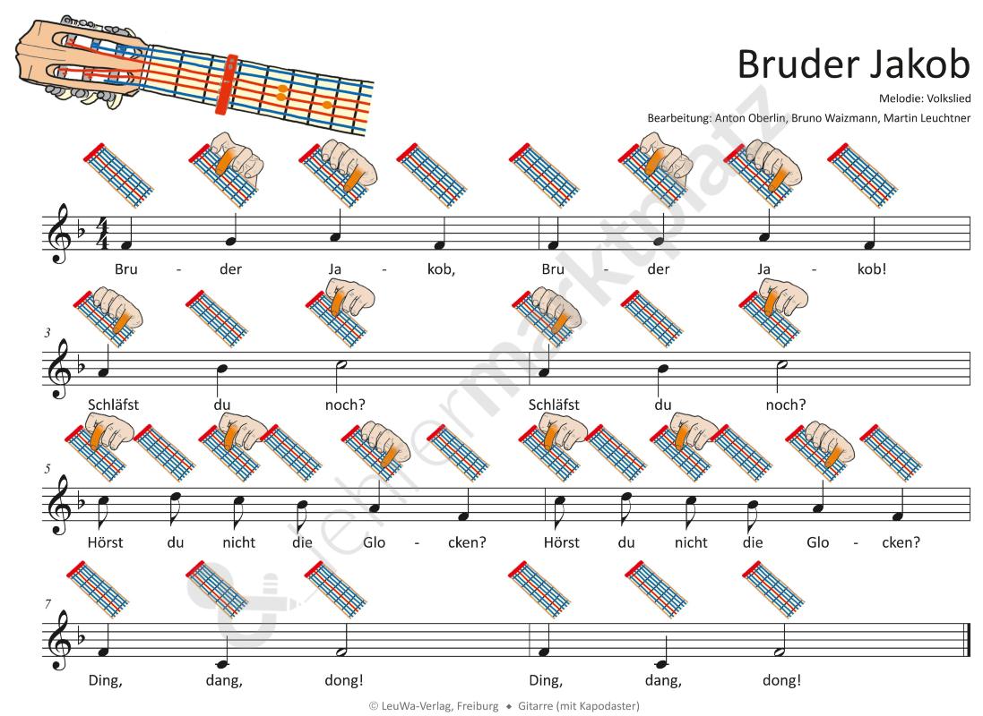 Bruder Jakob - Mp3-Dateien & Noten Für Klavier, Melodica über Bruder Jakob In Allen Sprachen
