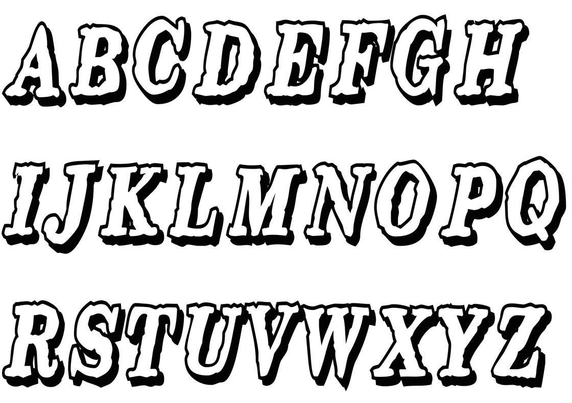 Buchstaben Ausmalen: ✎ Alphabet Malvorlagen A-Z | Abc, Alphabet bestimmt für Buchstaben Zum Ausschneiden