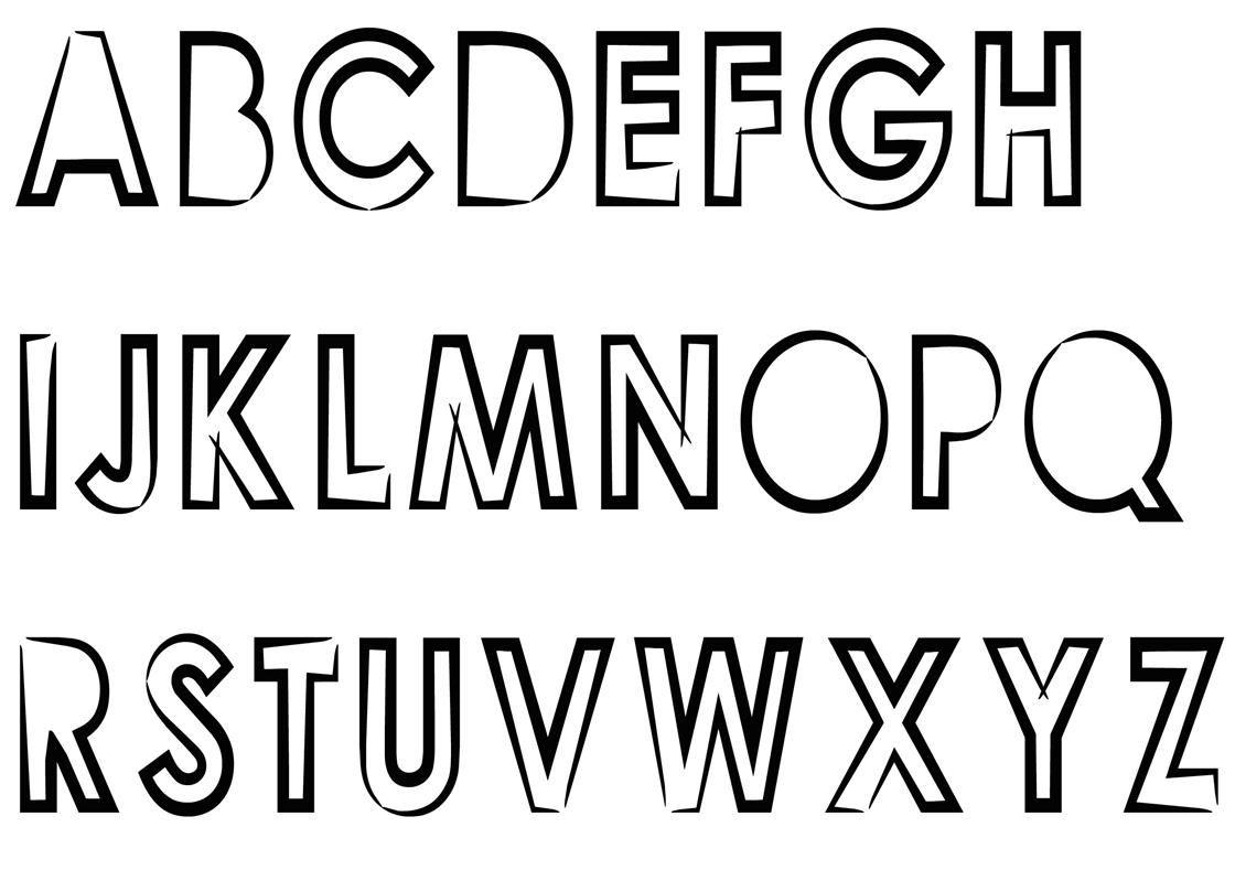 Buchstaben Ausmalen: ✎ Alphabet Malvorlagen A-Z (Mit bestimmt für Buchstaben Zum Ausschneiden