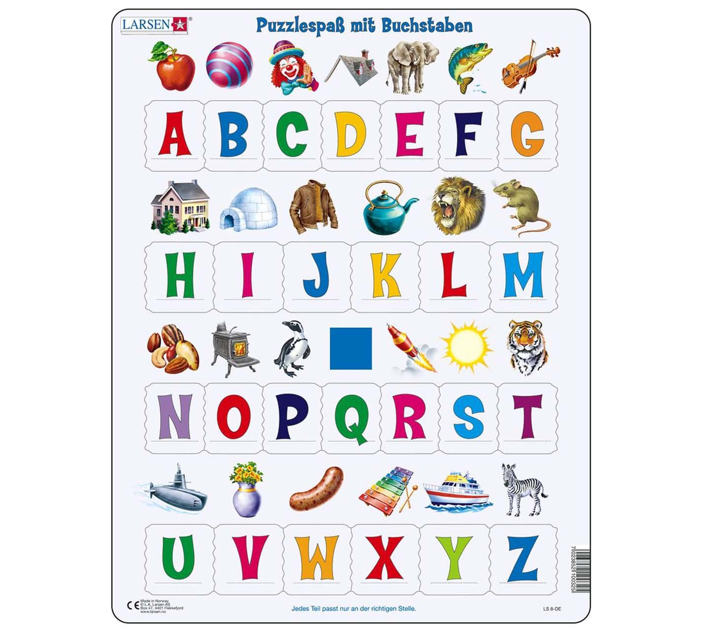 Buchstaben - Puzzle bestimmt für Bilder Aus Buchstaben