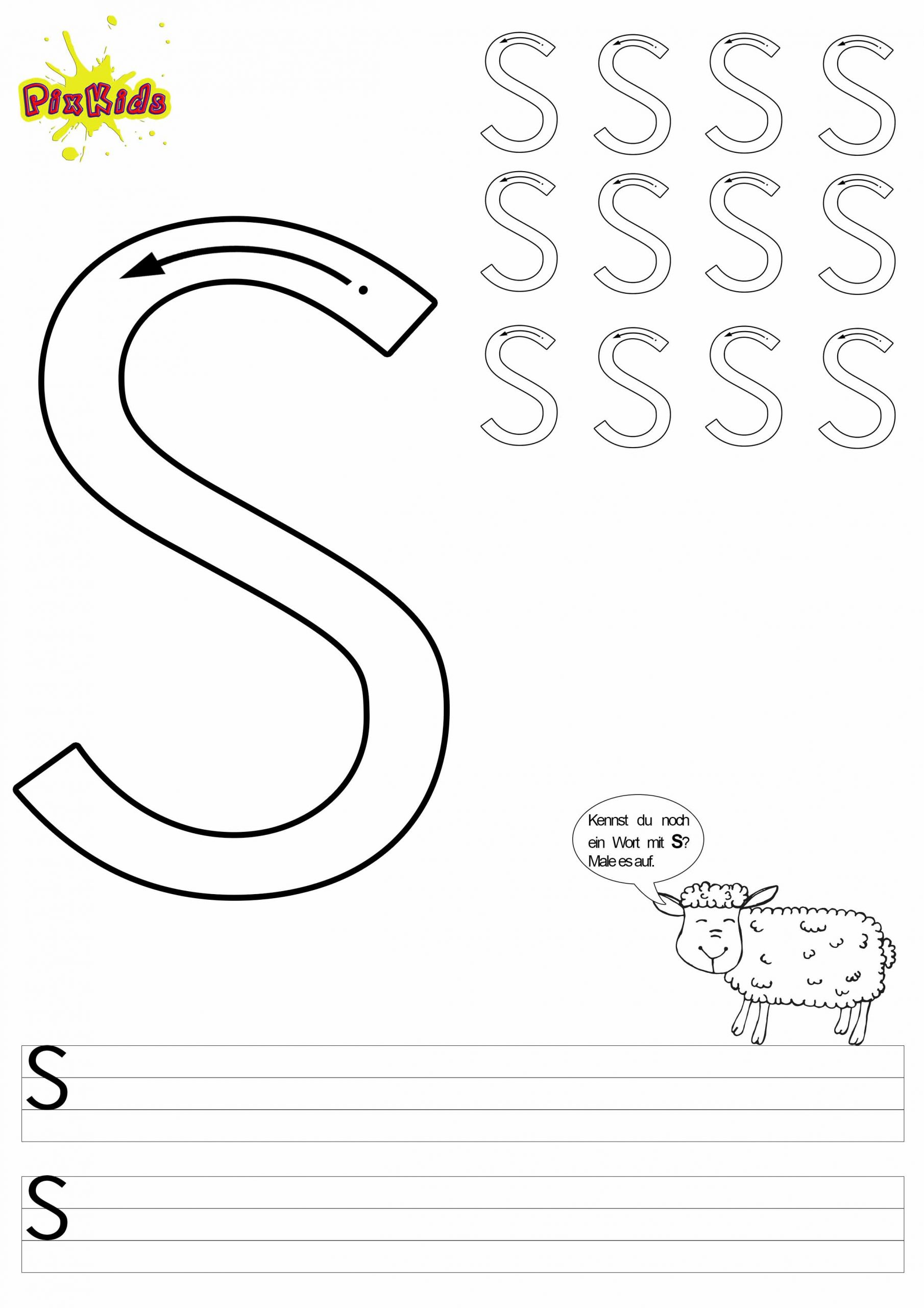 Buchstaben Schreiben Lernen Arbeitsblätter - Buchstaben Zum für Übungsblätter Vorschule Kostenlos Ausdrucken