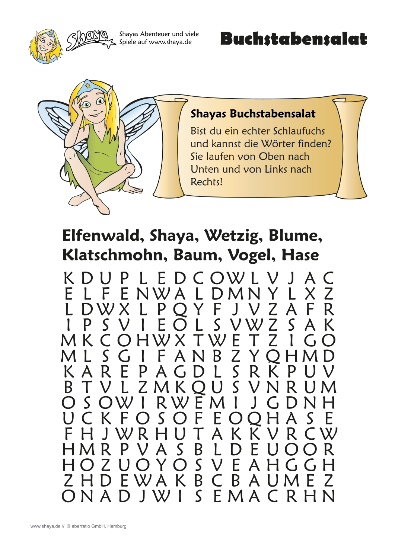 Buchstabensalat: Bist Du Ein Schlaufuchs Und Kannst Die für Rätsel Für Kindergeburtstag