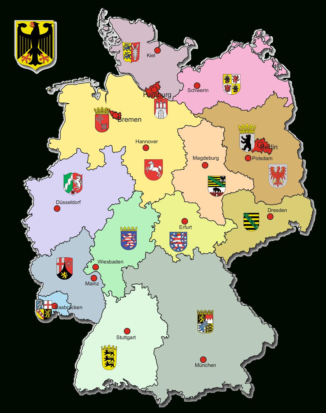 Bundesländer Und Hauptstädte - Geographie Deutschlands über Bundesländer Deutschland Mit Hauptstädten Karte