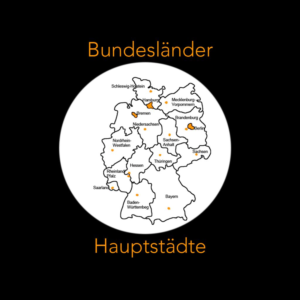 Bundesländer Und Hauptstädte In Deutschland Kennenlernen bestimmt für Deutschland Karte Bundesländer Hauptstädte